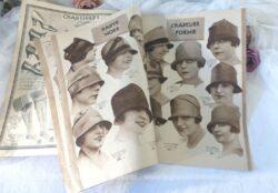 """Voici un ancien grand catalogue, """"Au Printemps"""" à Paris, pour la mode pour femmes, hommes, lingerie et bonneterie pour l'été 1927 !"""