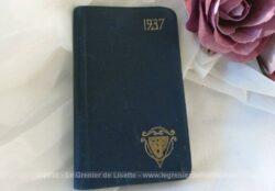 Voici un ancien petit agenda de poche de 1937.