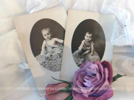 Voici 2 photos anciennes de bébé datant du début du siècle dernier. Ces photos seront à vous et donc libres de droit.