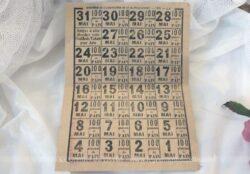 Authentiques anciens tickets de rationnement pour le mois de mai 1919.
