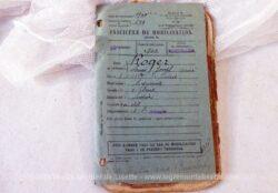 Ancien carnet de mobilisation classe 1900