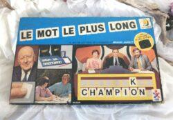 """Voici la boite du célèbre jeu télévisé des années 60/70 d'Armand Jammot """"Le mot le plus long"""" dans saversion des années 70."""