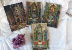 Lot de 4 cartes postales anciennes de la Cathédrale de Strasbourg avec molette pour changer les images.