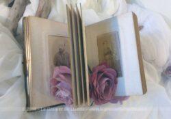 Ancien petit album photos en cuir et ses 48 photos de portraits du XIX et début XX°.