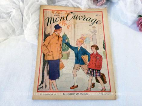 """Voici le n°23 de l'ancienne revue mensuelle """"Mon Ouvrage"""" pour le mois d'octobre en 1950."""