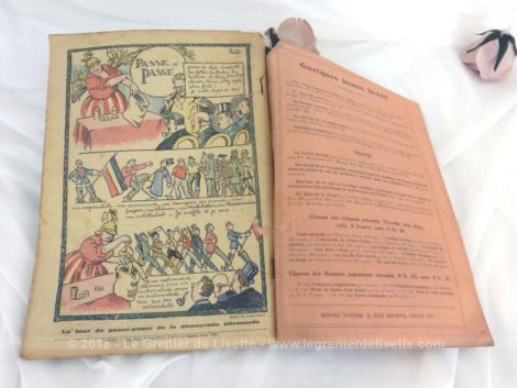 Ancien Almanach du Pèlerin de 1926.