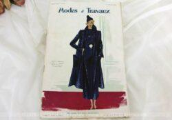 Revue Mode et Travaux du 1er novembre 1934 avec des superbes modèles de robes fourni avec le patron pour des travaux de broderies et couture.