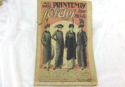 Voici le catalogue Au Printemps hiver 1913-14 pour la mode, décoration et linge de l'hiver précédant la première guerre mondiale.