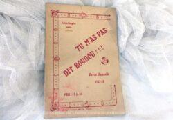 """Revue annuelle Folies Bergère 1922 pour la ville de Rouen, revue locale d'une petite opérette pour l'hiver 1922/1923 comporte le titre de 'Tu m'as pas dit boudou....""""."""