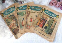 """Lot de 4 anciennes revues de """"Lisette"""". Le numéro 31,32, 34 et 47 de 1930, pour découvrir avec nostalgie ce que lisait nos aïeules !"""