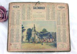 Almanach des Postes et Télégraphes année 1924 avec feuillets complémentaires.
