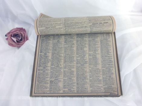 Almanach des Postes et Télégraphes année 1926 avec feuillets complémentaires.