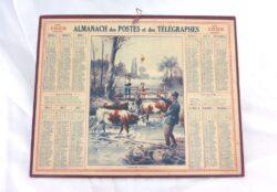Almanach des Postes et Télégraphes année 1928 avec feuillets complémentaires.