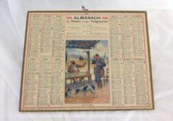Almanach des Postes et Télégraphes année 1929 avec feuillets complémentaires.