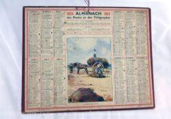 Almanach des Postes et Télégraphes année 1934 avec feuillets complémentaires.