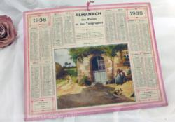 Almanach des Postes et Télégraphes année 1938 avec feuillets complémentaires.
