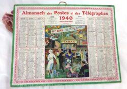 Almanach des Postes et Télégraphes année 1940, avec feuillets complémentaires.