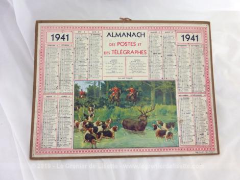 Almanach des Postes et Télégraphes année 1941 avec feuillets complémentaires.