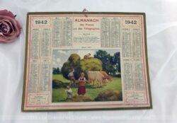 Almanach des Postes et Télégraphes année 1942 avec feuillets complémentaires.