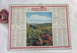 Almanach des Postes et Télégraphes année 1949, avec feuillets complémentaires.