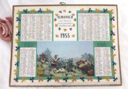 Almanach des Postes et Télégraphes année 1955 avec feuillets complémentaires.