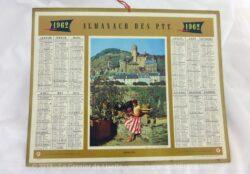 Almanach des Postes et Télégraphes année 1962 avec feuillets complémentaires.