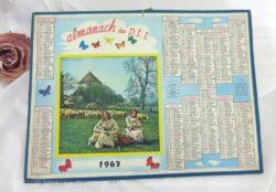 Almanach des Postes et Télégraphes année 1963 avec feuillets complémentaires.