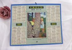 Almanach des Postes et Télégraphes année 1964 avec feuillets complémentaires.