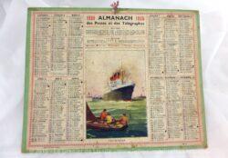 Almanach des Postes et Télégraphes année 1935 avec feuillets complémentaires.