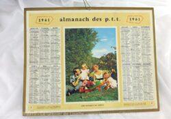 Almanach des Postes et Télégraphes année 1961 avec feuillets complémentaires.