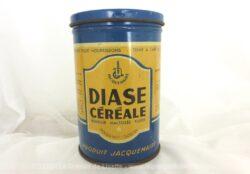 Ancienne boite farine pour bébé Diase Céréale en métal sérigraphiée, années 50/60.
