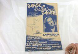 Ancienne partition Danse Ballerine Danse avec Anny Gould, paroles françaises de André Hornez et musique de Karl Sigman avec Ray Ventura et son orchestre.