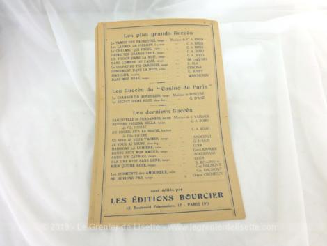 Ancienne partition J'ai perdu d'Avance, paroles de Jacques Larue, musique de Jean Lutece, chantée par Annette Lajon.