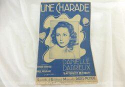 Ancienne partition Une Charade, paroles de André Hornez, musique de Paul Misraki, créé Danielle Darieux dans le film Battements de Coeur.