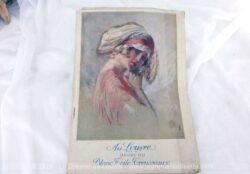 Ancien catalogue Au Louvre Janvier 1922 avec 50 pages de blanc, linge et trousseaux pour dames.
