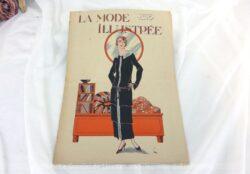 Revue La Mode Illustrée du 11 mai 1924 sur 16 pages avec des modèles de tailleurs ou robes et des explications pour des travaux de broderies et couture. Tout le charme de la mode des années follles