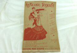 """Ancienne partition La Veuve Joyeuse valse """"Heure Exquise"""" de l'opérette en 3 actes d'après Meilhac. Copyright 1909."""
