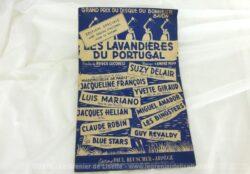 Ancienne partition Les Lavandières du Portugal, paroles de Roger Lucchesi, musique de André Popp, chantée dans le film Mademoiselle de Paris, par Jacqueline François.