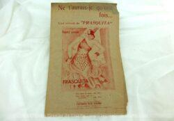 """Ancienne partition Ne t'aurais-je qu'une fois..., lied extrait """"Frasquita"""", musique de Franz Lehar, copyright 1933."""