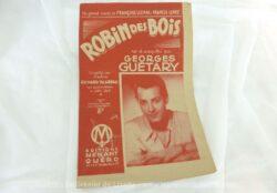 """Ancienne partition """"Robin des Bois"""" créé et enregistré par Georges Guetary, enregistrée par l'orchestre Blareau sur disques Odéon."""