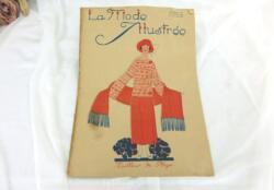 Revue La Mode Illustrée du 23 juillet 1922 sur 12 pages avec des modèles de tailleurs de plage. Tout le charme de la mode des années folles.