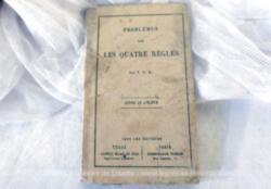 Ancien livre Problèmes sur Les Quatre Règles de 1884, livre de l'élève et ouvrages d'arithmétiques à l'usage des Ecoles Chrétiennes .