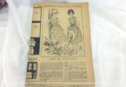 Patron Robe de Vacances de Femmes d'Aujourd'hui mai 1959, taille 44,