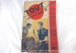 Ancienne revue Tout le Systeme D de octobre 1951, magasine de bricolage sur 52 pages avec des astuces modernes dans les années 50 !