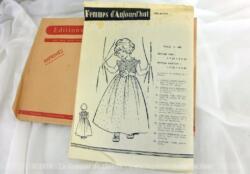 Patron Robe de Cérémonie pour fillettes de 1960 des Patrons de Femmes d'Aujourd'hui, taille 4 ans. Tellement vintage et actuel à la fois !