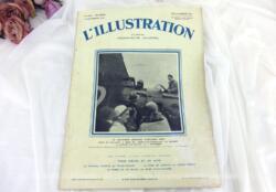 """Journal L'Illustration du 6 septembre 1930 avec en couverture une photo de la """"Traversée aérienne Paris-New York"""" par Coste et Bellonte à bord du """"Point d'interrogation"""" au Bourget à l'instant du départ, le 1er septembre 1930."""