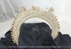 Ancienne couronne de mariée tresse tissus