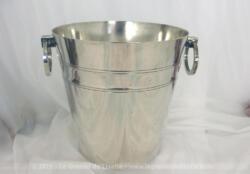 Ancien seau à champagne métal argenté St Médard au design des années 40/50.