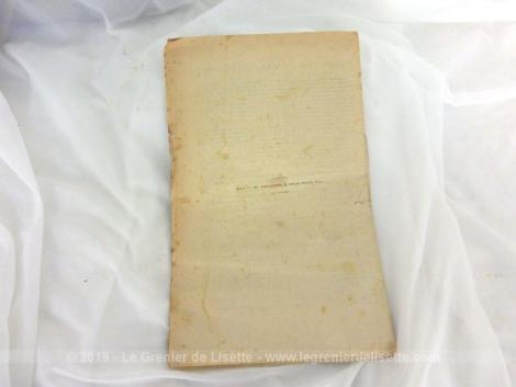 bulletin, lois et decrets, juillet 1898, papier, lois, ancien
