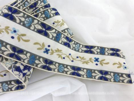 Ancien galon bleu aux fleurs de lys